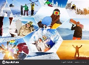winter_sports_collage_ski. Автор: Eвгений Хакимов